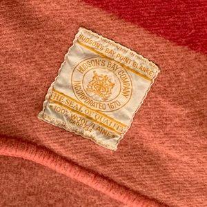 Authentic vintage Hudson Bay wool blanket